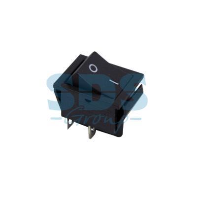Выключатель клавишный 250V 15А (4с) ON-OFF черный REXANT
