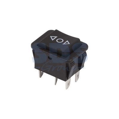 Выключатель клавишный 250V 15А (6с) (ON)-OFF-(ON) черный с нейтралью Б/Фикс REXANT