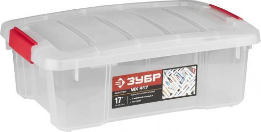 Купить Ящик ЗУБР 38182-17 пластиковый со съемной крышкой 440x290x160мм 17, Зубр