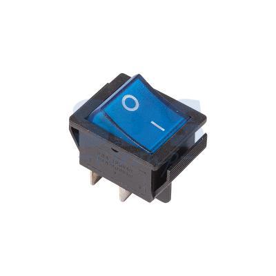 Выключатель клавишный 250V 16А (4с) ON-OFF синий с подсветкой REXANT carprie new replacement atx motherboard switch on off reset power cable for pc computer 17aug23 dropshipping