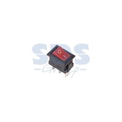 Выключатель клавишный 250V 3А (3с) ON-ON красный Micro REXANT