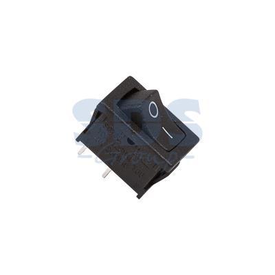 Выключатель клавишный 250V 6А (2с) ON-OFF черный Mini REXANT выключатель rexant 250v 2a 2с 06 0338 a