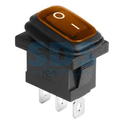 Выключатель клавишный 250V 6А (3с) ON-OFF желтый с подсветкой Mini ВЛАГОЗАЩИТА REXANT carprie new replacement atx motherboard switch on off reset power cable for pc computer 17aug23 dropshipping