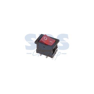Выключатель клавишный 250V 6А (3с) ON-ON красный Mini REXANT