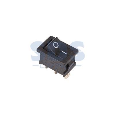 Выключатель клавишный 250V 6А (3с) ON-ON черный Mini REXANT 5 pcs ac 6a 250v 10a 125v 3 pin black button on on round boat rocker switch