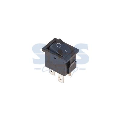 Выключатель клавишный 250V 6А (4с) ON-OFF черный Mini REXANT carprie new replacement atx motherboard switch on off reset power cable for pc computer 17aug23 dropshipping