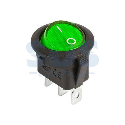 Выключатель клавишный круглый 12V 20А (3с) ON-OFF зеленый с подсветкой REXANT carprie new replacement atx motherboard switch on off reset power cable for pc computer 17aug23 dropshipping