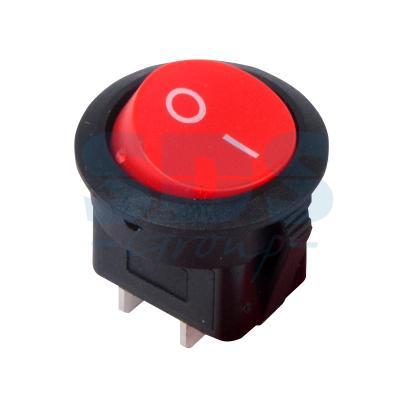 Выключатель клавишный круглый 250V 6А (2с) ON-OFF красный REXANT выключатель rexant 250v 2a 2с 06 0338 a
