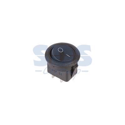 Выключатель клавишный круглый 250V 6А (2с) ON-OFF черный REXANT выключатель rexant 250v 2a 2с 06 0338 a