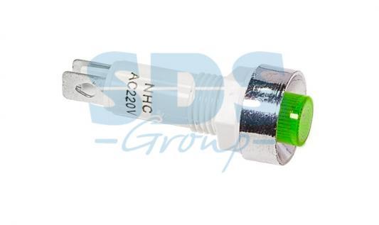 Индикатор c ОТРАЖАТЕЛЕМ O10 220V зеленый REXANT