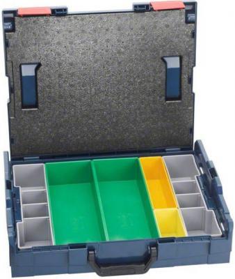 Ящик BOSCH L-BOXX 102 set 6 pcs (1.600.A00.1S4) 442x117x357мм 2.8кг 6 ячеек контейнеры для хранения мелких деталей bosch l boxx 102 inset box set 13 pcs 1 600 a00 1ry