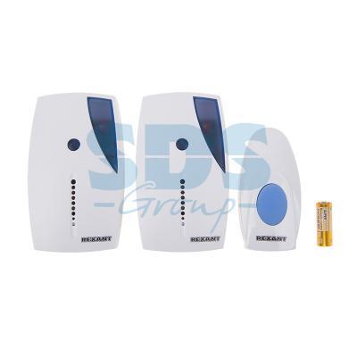 Беспроводной дверной звонок с двумя вызывными панелями кнопка IP 44 REXANT RX-5 звонок дверной in home збн 5 white grey