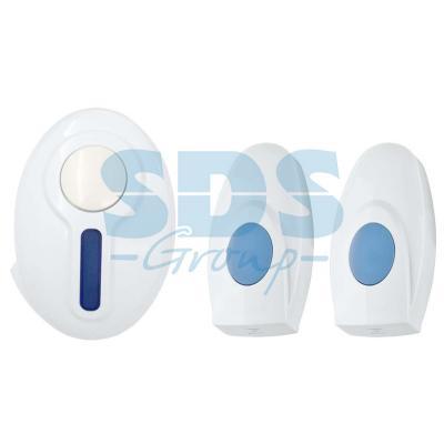 Беспроводной дверной звонок с двумя кнопками вызова IP 44 REXANT RX-4 73-0040 звонок беспроводной rexant rx 3 73 0030