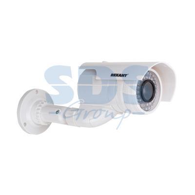 Муляж камеры уличной, цилиндрическая (белая)  REXANT