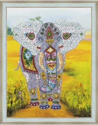 цены на Мозаика из пайеток на холсте Слон  в интернет-магазинах