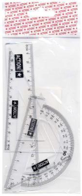 Набор для черчения-линейка 15см, 2 треугольника-30/10,45/7, транспортир-10см, прозрачн., е/п набор maped start 897139 компл лин 15см угол 12см трансп 10см