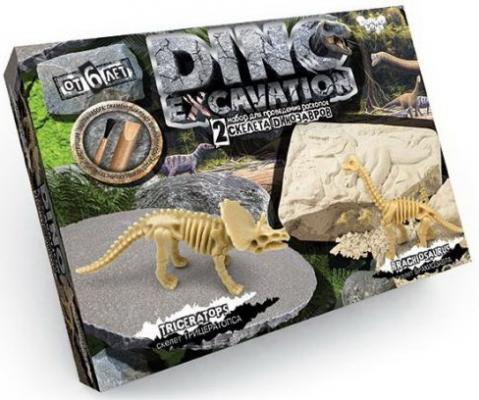 Набор для проведения раскопок Dino Excavation Динозавры (Трицератопс и Брахиозавр) geoworld для проведения раскопок dr steve hunters ти рекс и трицератопс
