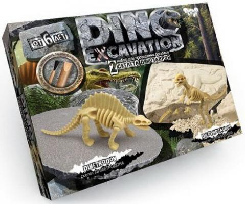 Набор для проведения раскопок Dino Excavation Динозавры (Стегозавр и Тираннозавр) geoworld для проведения раскопок dr steve hunters ти рекс и трицератопс