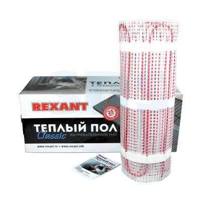 Тёплый пол (нагревательный мат) REXANT Classic RNX-14,0-2100 (площадь 14,0 м2 (0,5 х 28,0 м)), 2100 Вт, двухжильный с экраном цена