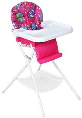 Купить Стульчик для кормления бело/розовый, Дэми, пластик, Стульчики для кормления