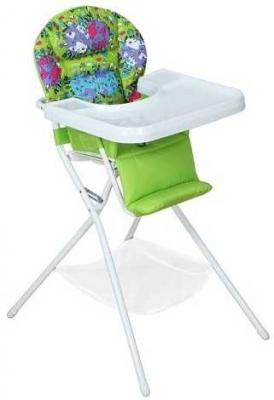 Купить Стульчик для кормления бело/салатовый, Дэми, зеленый, пластик, Стульчики для кормления