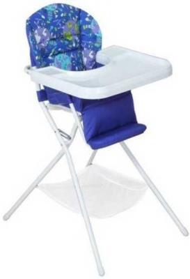 Купить Стульчик для кормления бело/синий, Дэми, металл + пластик, Стульчики для кормления