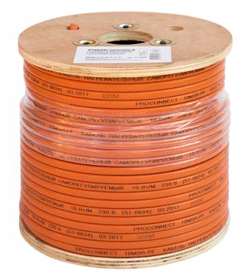 Саморегулируемый греющий кабель 10MSR-PF (10Вт/1м), 100М Proconnect акустический кабель 2х0 50 кв мм красно черный 100м proconnect 01 6103 6