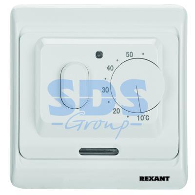 все цены на Терморегулятор механический с датчиком температуры пола и воздуха (3680Вт) REXANT онлайн