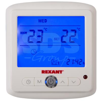 Терморегулятор с дисплеем и автоматическим программированием (R860XT)  REXANT