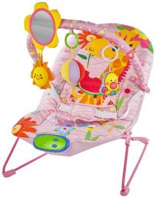 Кресло-качалка Жирафики Милашка розовый от 2 месяцев пластик 939431 кресло качалка детское жирафики жирафики кресло качалка пингвинёнок