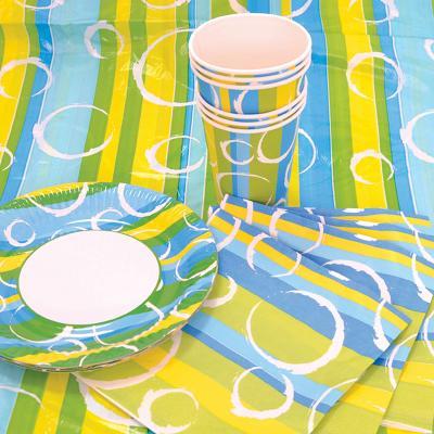 Набор для праздника РАДОСТЬ, в наборе: 6 тарелок, 6 чашек, 6 салфеток, скатерть 130см*180см. цена и фото