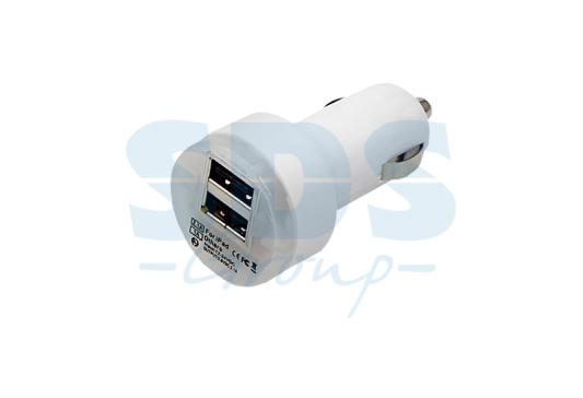 Автозарядка в прикуриватель 2хUSB с индикацией (АЗУ) (1 000+2 100mA) белая REXANT hios 1 50 000