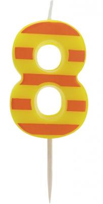 Купить Свеча Action! Свеча-цифра для торта 8 4, 8 см, Сервировка стола и свечи