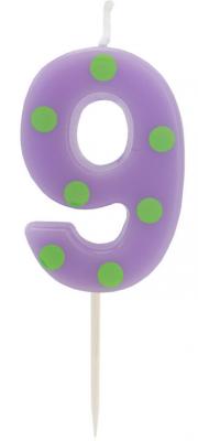 Купить Свеча Action! Свеча-цифра для торта 9 4, 8 см, Сервировка стола и свечи
