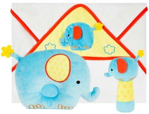 Подарочный набор Добрый слоник: полотенце, погремушка и подушка