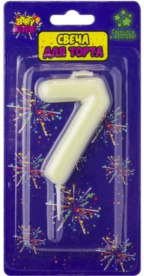 Купить Свеча Action! Флюоресцентная свеча - цифра 7 6 см, Сервировка стола и свечи