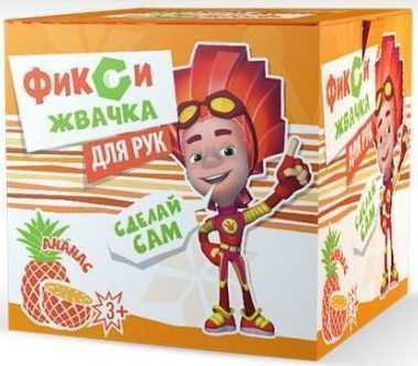 Комплект Инновации для детей Юный Химик Фикси Жвачка для рук Ананас желтый 885