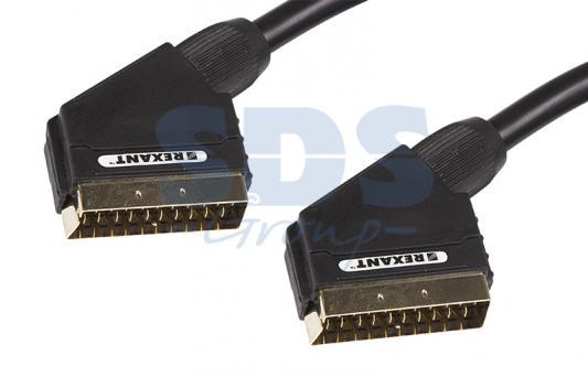 цена на Шнур SCART Plug - SCART Plug 21pin 1.5М (GOLD) REXANT