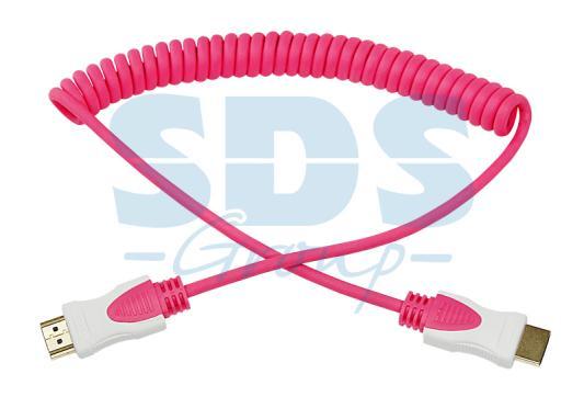 Шнур HDMI- HDMI 2М розовый витой REXANT мультидом шнур витой 20 м 5цв