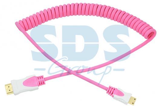 Шнур HDMI - mini HDMI 2М розовый витой REXANT мультидом шнур витой 20 м 5цв