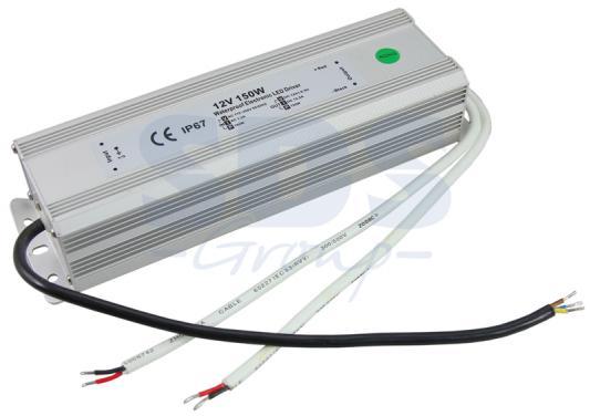 Источник питания 110-220V AC/12V DC, 12,5А, 150W с проводами, влагозащищенный (IP67) 200-150-2 dc dc boost converter 10v 32v to 12v 35v step up power supply module 150w 10a