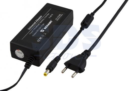 Купить Источник питания 220V AC/24V DC, 3А, 72W с DC разъемом подключения 5.5*2.1, без влагозащиты (IP23), REXANT