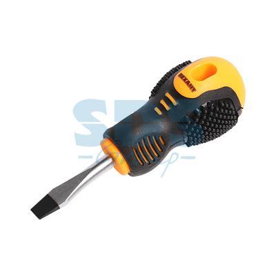 Отвертка шлицевая SL 6 X 40 мм , двухкомпонентная рукоятка Rexant шлицевая отвертка мастак slotted 6 5х150 мм 040 65150eh
