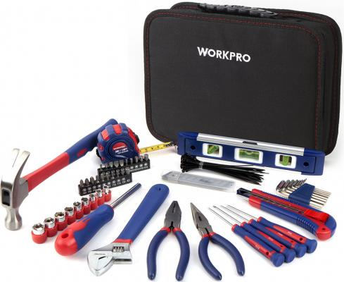 цена Набор инструментов WORKPRO W009021 для дома в сумке 100предметов