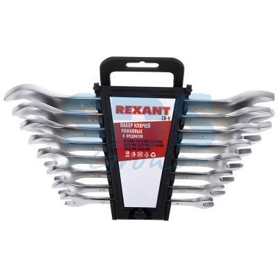 Набор ключей рожковых 8-24 мм 8 предметов Rexant набор ключей рожковых кратон sws 02 8 предметов