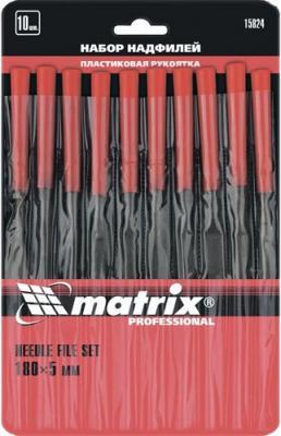 Набор надфилей MATRIX 15824 180х5мм 10шт пластиковые рукоятки