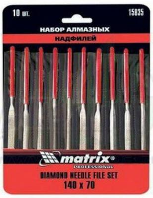 Набор надфилей MATRIX 15835 алмазных 140х70х3 10шт master