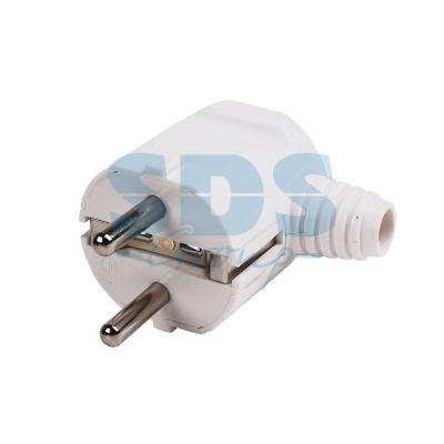 Вилка угловая с/з белая 16А PROCONNECT угловая плоская вилка за шкаф с з 16а черная flat plug electraline 55045