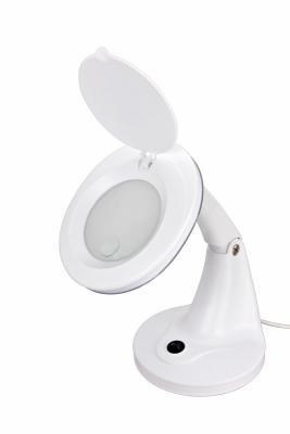 Лупа настольная 3D+12D с подсветкой 48LED, белая REXANT лупа настольная rexant 3x с подсветкой и сенсорным регулятором 60 led white 31 0531