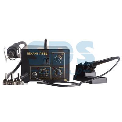 Паяльная станция (паяльник + термофен) 150-500°С (R852) REXANT паяльная станция rexant 12 0159